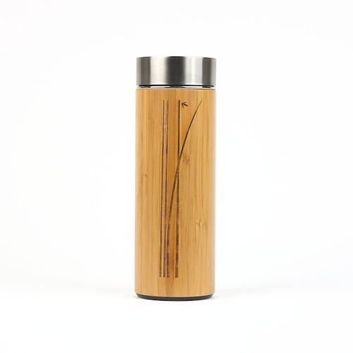Bouteille en Porcelaine fini bambou