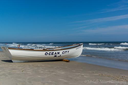 ocean summer beach newjersey nj lifeboat oceancity