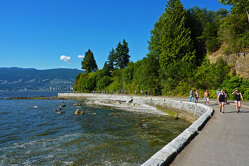 Stanley Park Seawall between Second and Third Beach, Vancouver, British Columbia, Canada