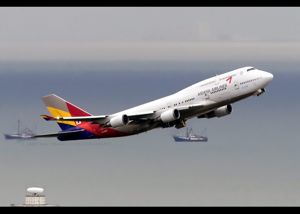 B747-48E/M | Asiana Airlines | HL7423 | HKG