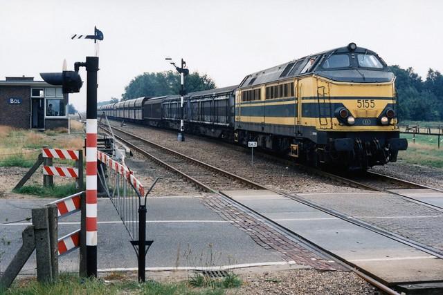 NMBS 5155 te Budel (Nederland) op 4-8-1988 (SCAN)
