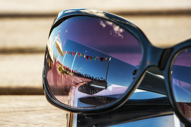 Reflections in sunglasses