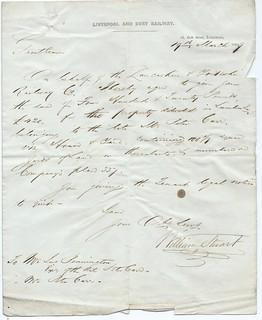 Liverpool and Bury Railway letterhead 1849 | by ian.dinmore