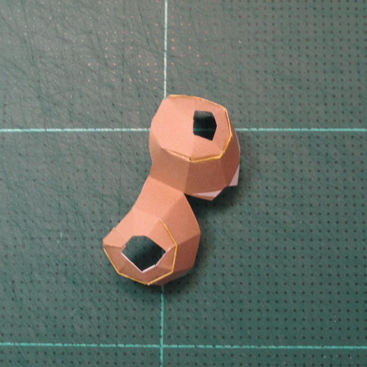 วิธีทำโมเดลกระดาษของเล่นคุกกี้รัน คุกกี้รสพ่อมด (Cookie Run Wizard Cookie Papercraft Model) 019