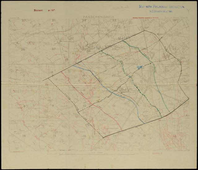 Passchendaele Objectives Map - Archives New Zealand Te Rua Mahara o te Kāwanatanga