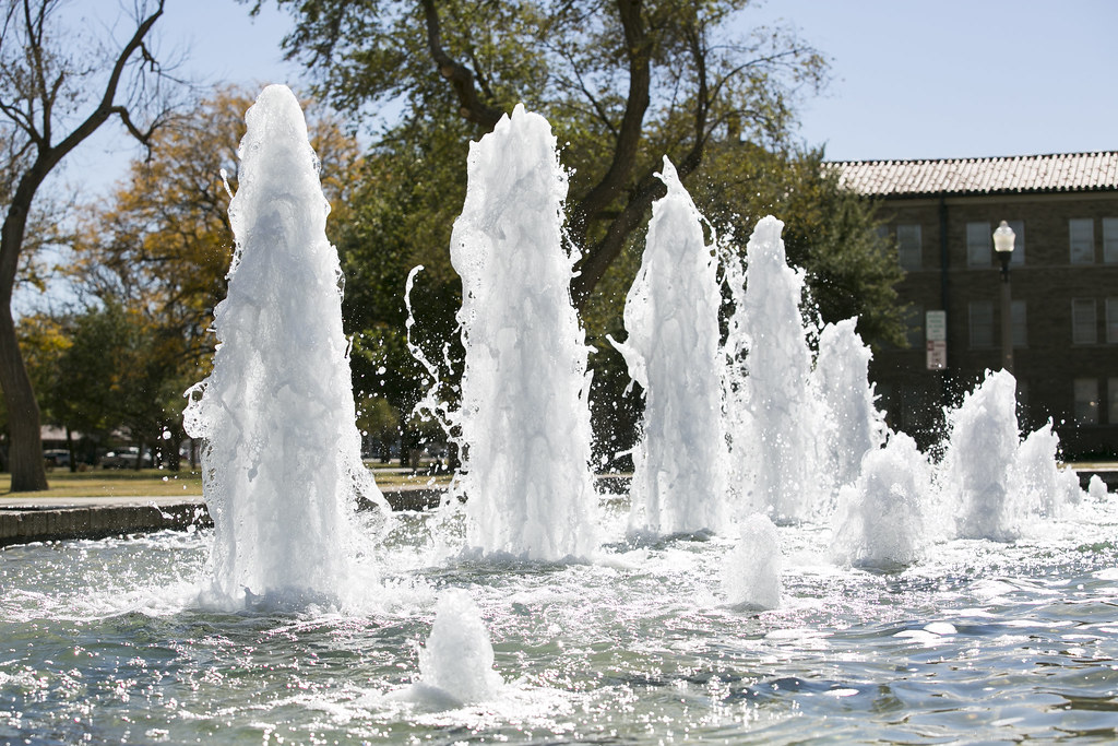 Fountain in the Amon G. Carter Plaza