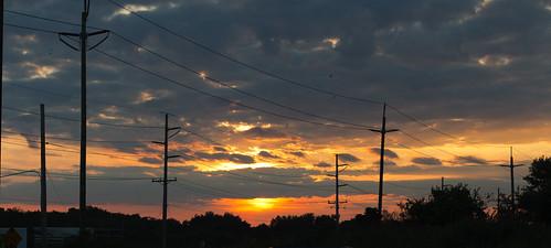 sunset newjersey poles oceancity telephonepoles