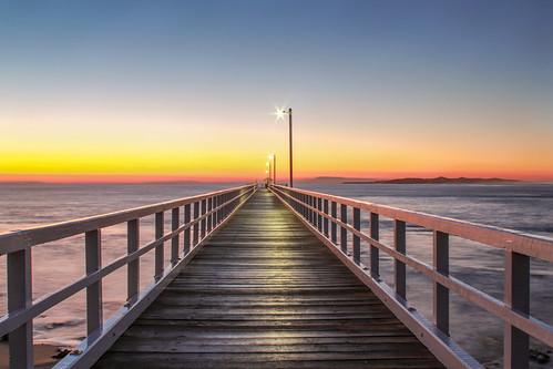 ocean light sky seascape color nature water sunrise landscape pier australia coastal bluehour ptlonsdale grandrapidsphotographer detroitphotographer michiganphotographer oceangrovephotographer barwonheadsphotographer