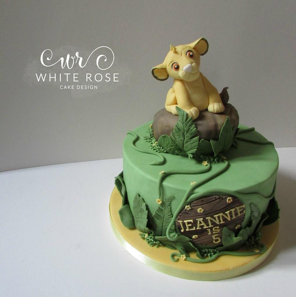 Astounding Simba Lion King Jungle Themed 5Th Birthday Cake Huddersfie Flickr Funny Birthday Cards Online Bapapcheapnameinfo