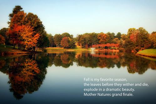 autumn landscape reflections colors fall gastonia northcarolina heatherlock inmybackyard dorameulman outdoor november