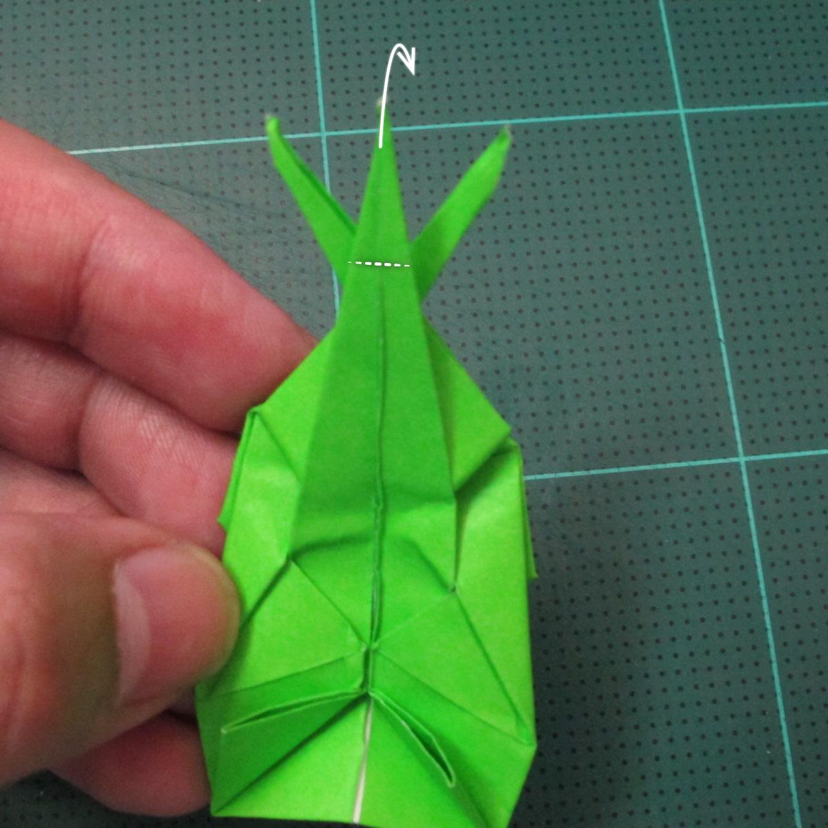 วิธีพับกระดาษเป็นรูปหอยทาก (origami Snail) 027
