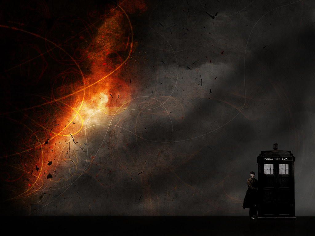Tardis David Tennant Doctor Who Fan Art Tenth Doctor Hd Wa Flickr