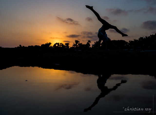 Sunset on the Cyprus coast