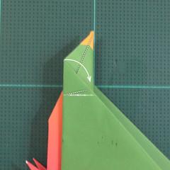 วิธีพับกระดาษเป็นรูปนกแก้ว (Origami Parrot) 027