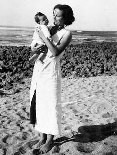 Maroc, 1934, Julienne et sa fille, Dédée