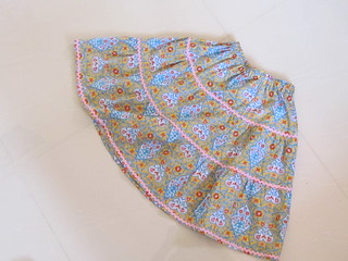 Tiered skirt size 2 from Happy Homemade Sew Chic Kids