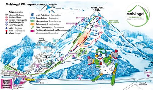 Kaprun - Maiskogel - mapa sjezdovek