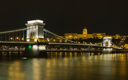 hungary riverdanube pest danube travelphotography travel budapest buda széchenyichainbridge williamtierneyclark suspensionbridge bridge europe chainbridge canon5d budacastle budaváripalota traveldestination water landscape night