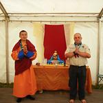 Troll & Ganna with the Vajrayana Shrine