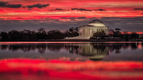 city travel usa reflection tourism monument architecture america sunrise dc washington memorial view symbol cloudy thomas famous sightseeing basin historic jefferson tidal nationalgeographic outstandingromanianphotographers