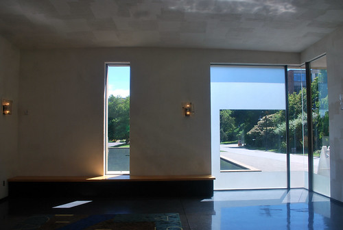 Entry, Looking Out to Reflecting Pool:  Chapel of St. Ignatius, Seattle University