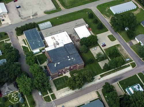 southdakota aerialview highschool sd unioncounty citylibrary publicschool alcester ahhs 57001 alcesterhudson