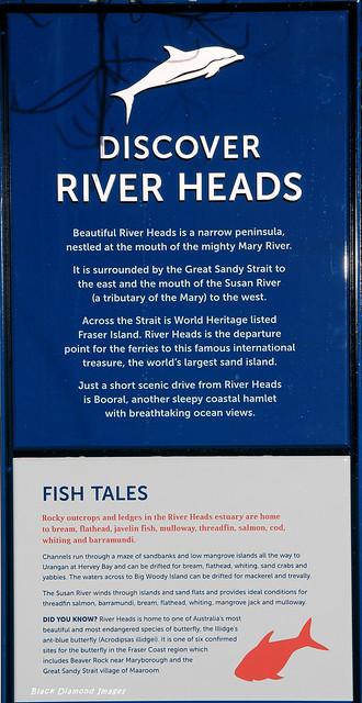 Discover River Heads & Fish Tales Interpretive Sign, River Heads Carpark, River Heads, Hervey Bay, SE Queensland