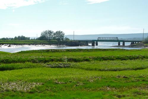 canada day novascotia saltmarsh historicgardens annapolisroyal tidalmarsh dykewalk pwpartlycloudy