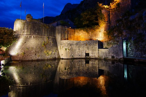 travel heritage water beautiful wall night reflections river lights twilight europe colours nightshot dusk sony tranquility unesco tokina bluehour balkans adriatic montenegro nationalgeographic a77 kotor traquil sonyphotographing