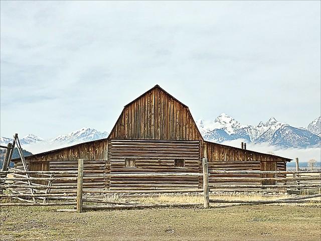 Moulton Barn,  iconic Jackson Hole, Mormon Row, Jackson Hole, Wyoming