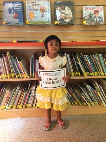 Prisha read 1,000 books!