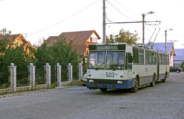 Vaslui 503, 5 km line, 5 buses, no depot