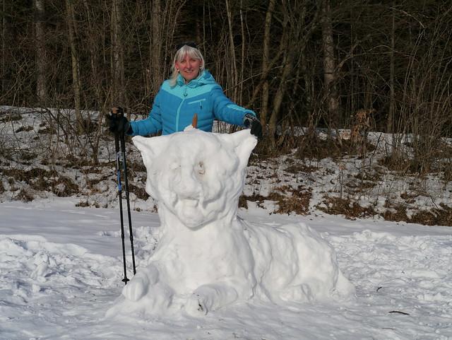Schneelöwe & Ursula / Snow lion & Ursula