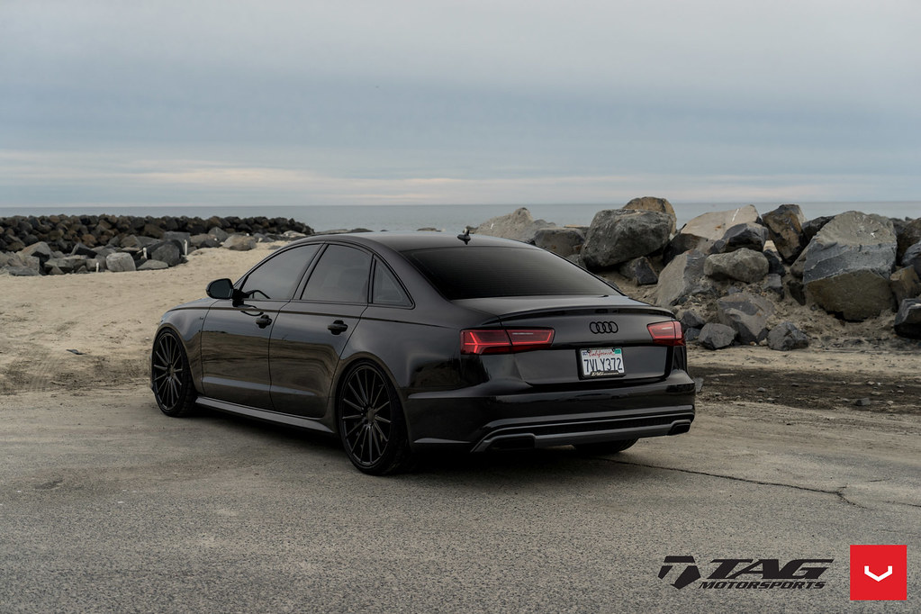 Audi A6 Vfs 2 Custom Black C Vossen Wheels 2017 10 Flickr