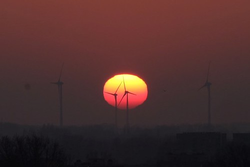 sunset heolienne anvers antwerp wind