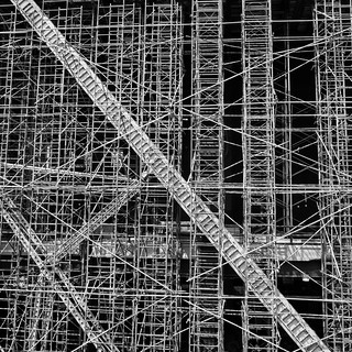 Scaffold along the High Line   by Richard-