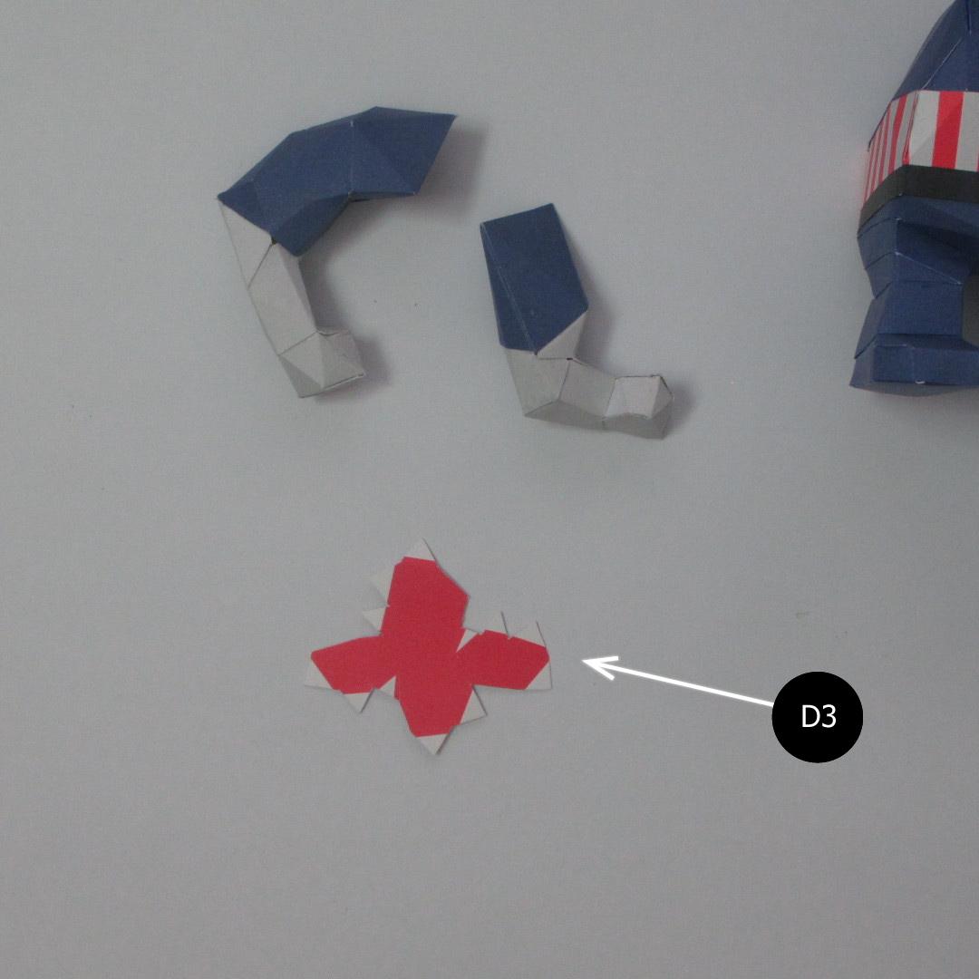 วิธีทำของเล่นโมเดลกระดาษกับตันอเมริกา (Chibi Captain America Papercraft Model) 018