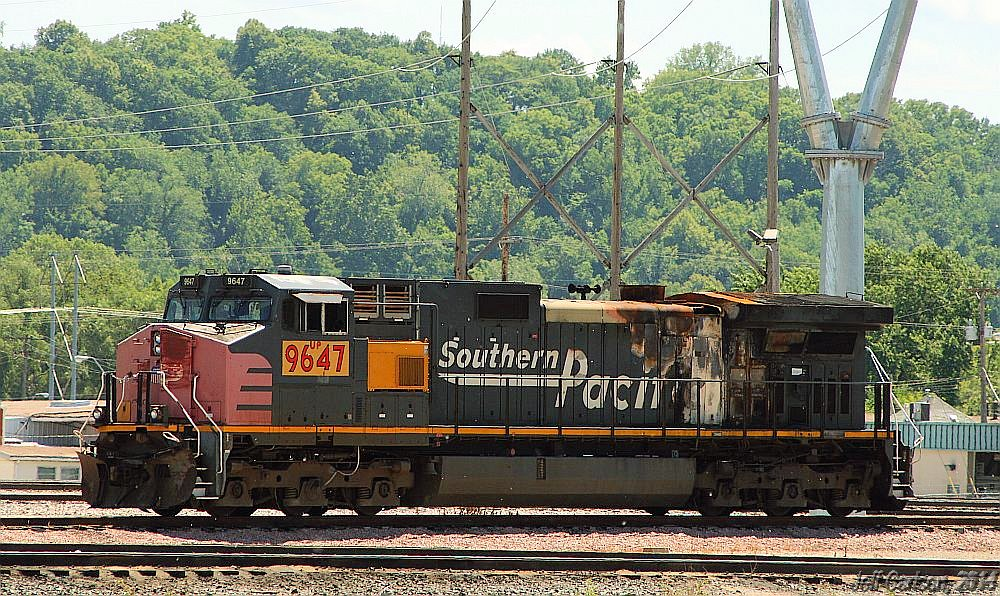 The Last SP Dash-9   On July 8th, I photographed the UP 9647