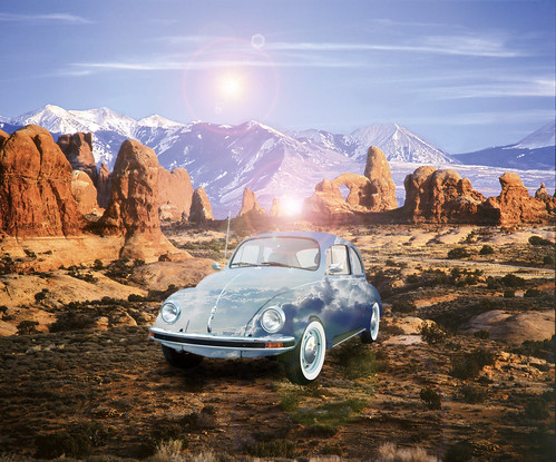A Selection Of Manipulated Images : A Cloud Covered Volkswagen Beetle - 1 Of 5