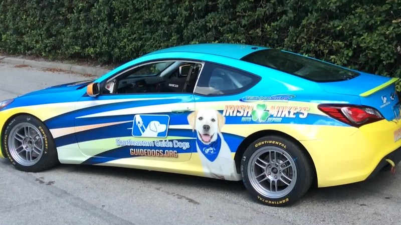 Race car graphics wrap design by TechnoSigns