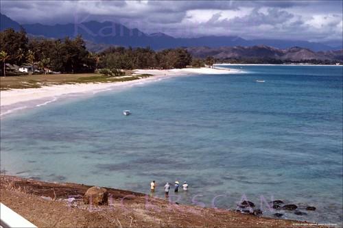 1960s kailua hawaii oahu beach slide lanikai