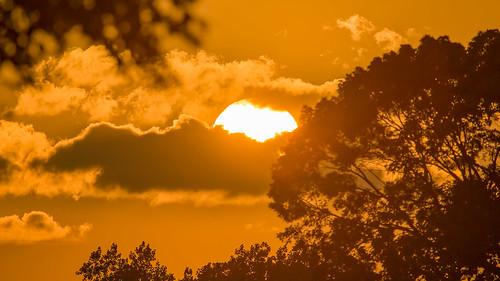 sunset miltonlakepark rahway newjersey nj