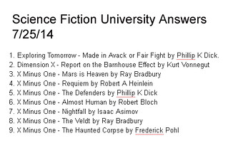 science fiction answers 7-25-14 | by flangum