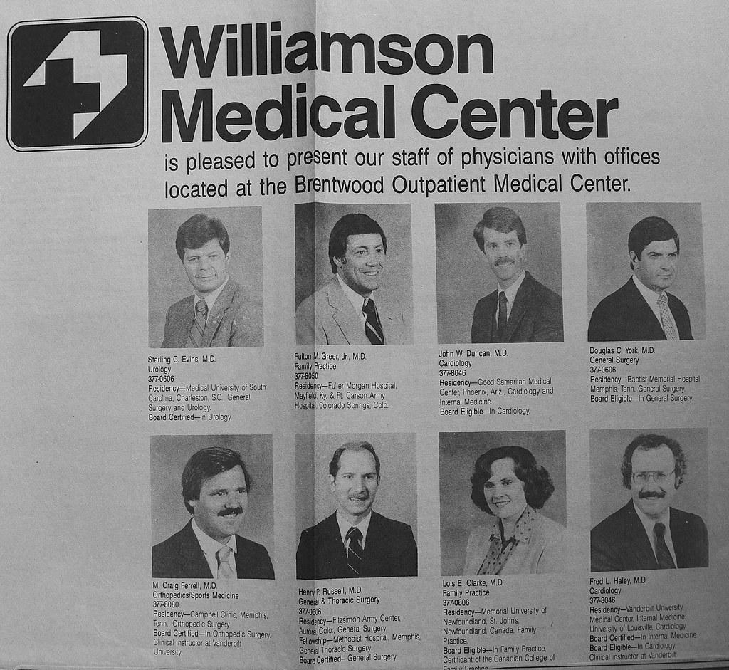 Dr  Starling Evins, Dr  Fulton Greer Jr , Dr  John Duncan