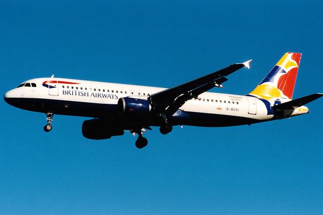 British Airways   Airbus A320-200   G-BUSI   Wings   London Heathrow
