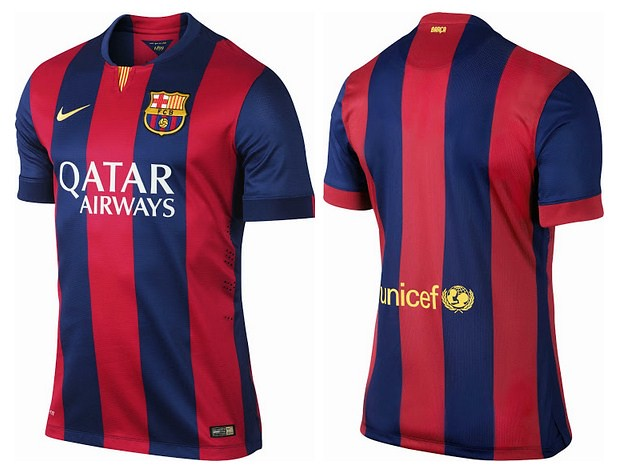 separation shoes 618a5 b6eee Barcelona FC 14-15 (2014/2015) Home, Away, Third and Goalk ...