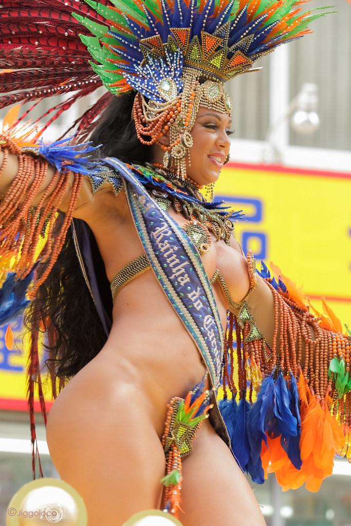 Phat Brazilian Girls Samba Dancing Topless On Vacation