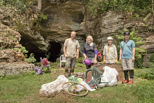 Cleanup, Pilot Knob Cave, Jackson County, Tennessee