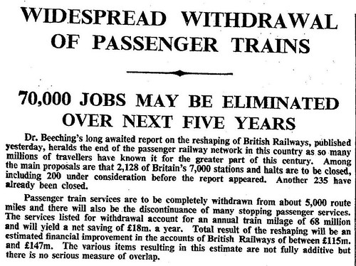 27th March 1963 - The Beeching Report on railways | by Bradford Timeline