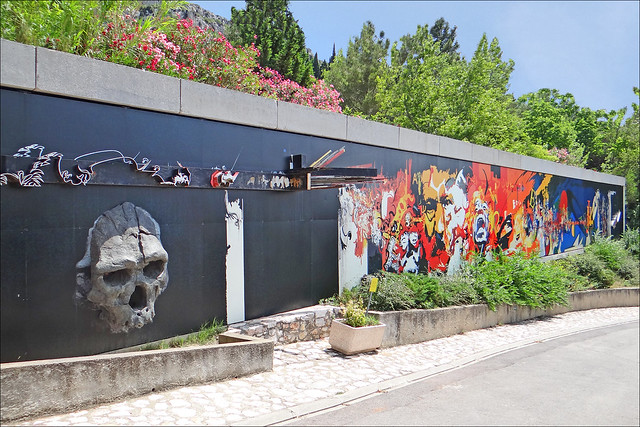 Le mur de Moretti (musée de préhistoire, Tautavel)